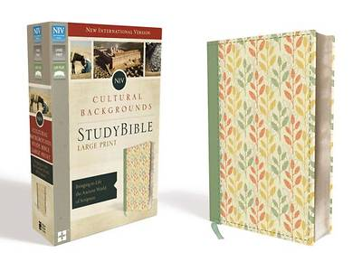 NIV, Cultural Backgrounds Study Bible, Large Print, Imitation Leather, Green, Red Letter Edition