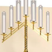 "Picture of Koleys K1132 3 14"" High Altar Candelabra 3 Light w/ 5"" Base"
