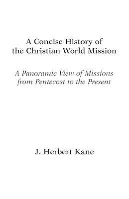 Picture of A Concise History of the Christian World Mission