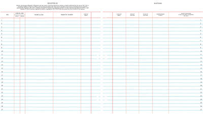 "Westminster Church Register – Register of Baptisms or Baptized Persons (9 ¾"" x 11"" Sheets)"