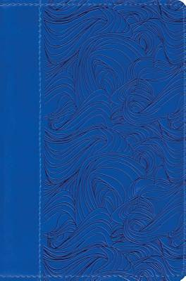 ESV Compact Bible (Trutone, Deep Blue, Waves Design)