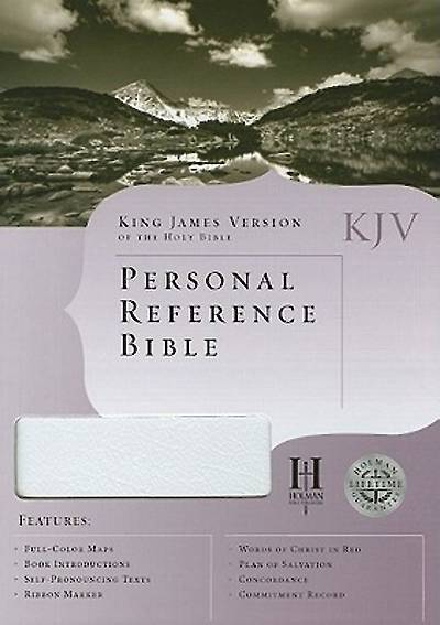 KJV Personal Reference Bible - White Bonded Leather