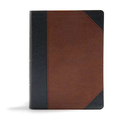 Picture of CSB Study Bible, Black/Tan Leathertouch