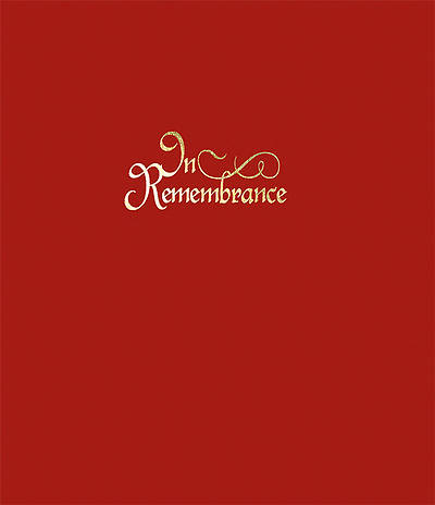 In Remembrance Register (7 Ring Binder)