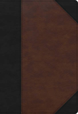 Picture of CSB Super Giant Print Reference Bible, Black/Brown Leathertouch, Indexed