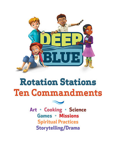 Picture of Deep Blue Rotation Stations: Ten Commandments - Entire Unit Download