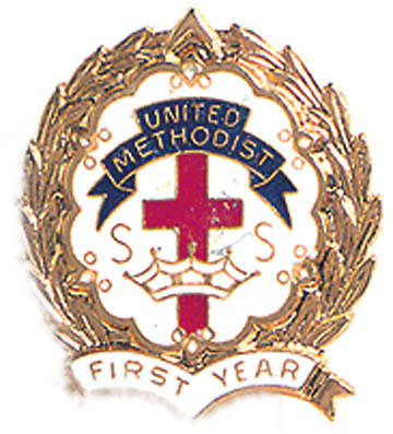 Picture of Cross and Crown Pin One Year United Methodist