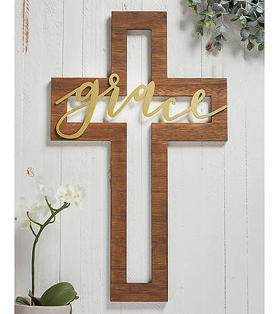 "Picture of ""Grace"" Cross Cut-Out 16"""