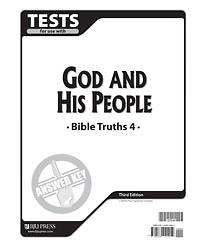 Bible Truths Tests Answer Key Grade 4 3rd Edition