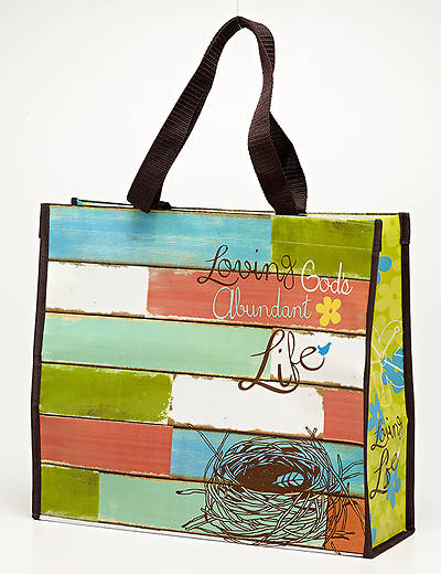 Loving Gods Abundant Life Laminated Tote Bag