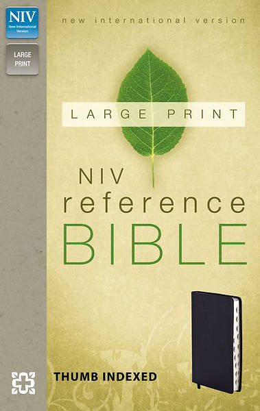 NIV Reference Bible, Large Print Navy Imitation Leather Navy Imitation Leather
