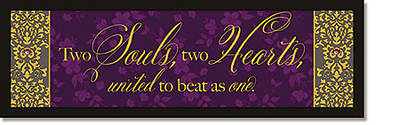 Picture of Two Souls, Two Hearts Plaque - Words of Grace