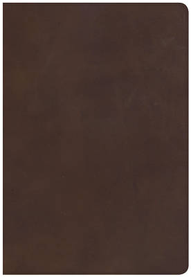 NKJV Super Giant Print Reference Bible, Brown Genuine Leather