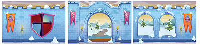 Picture of Vacation Bible School (VBS) 2020 Knights of North Castle Decorating Mural Package (9 Panel Set)