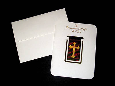 Lords Prayer Brass Bookmark (#8451)
