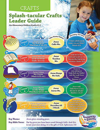 Concordia VBS 2014 Gangway to Galilee Splash-tacular Crafts Leader Guide