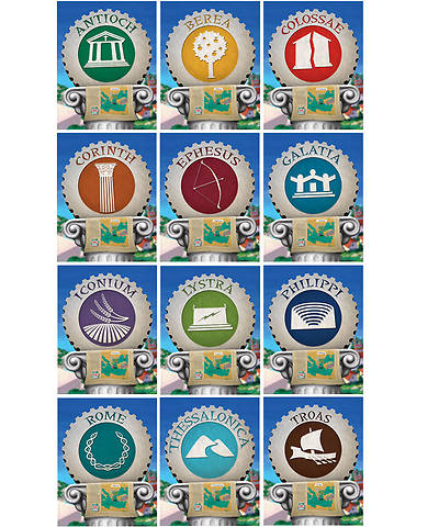 Group VBS 2013 Athens Oikos Name Posters (set of 12)