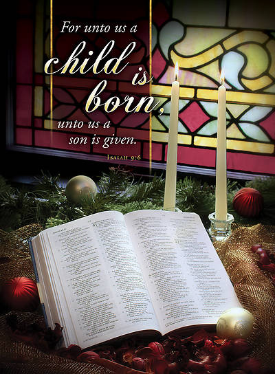 Picture of Child is Born Christmas Bulletin Isaiah 9:6  (Pkg of 100)