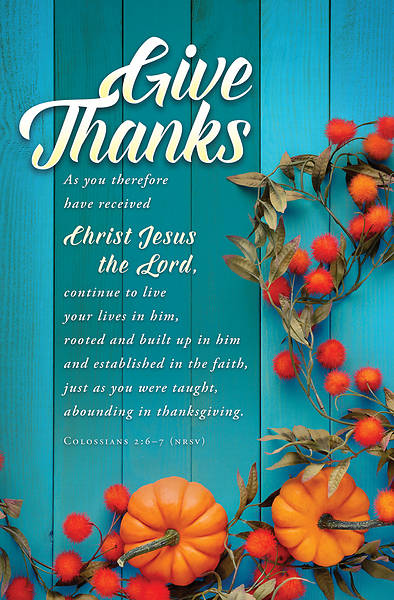 Give Thanks Thanksgiving Regular Size Bulletin