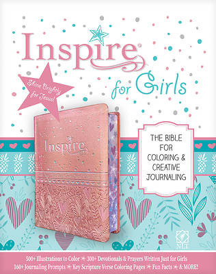 Picture of Inspire Bible for Girls NLT (Leatherlike, Pink)