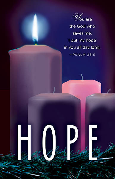 hope advent candle sunday 1 bulletin pkg of 50 cokesbury. Black Bedroom Furniture Sets. Home Design Ideas