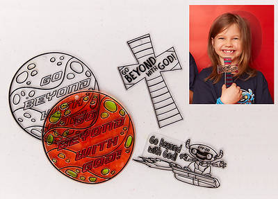 Vacation Bible School (VBS) To Mars and Beyond Suncatchers Craft (Pkg of 12)