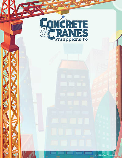 Picture of Vacation Bible School (VBS) 2020 Concrete and Cranes Writing Paper Pkg 50