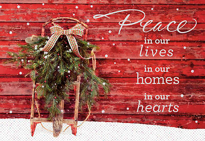 Peace In Our Hearts Christmas Cards Box of 18