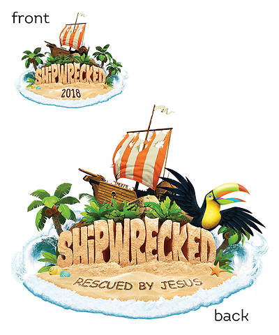Vacation Bible School (VBS) 2018 Shipwrecked Iron-On Transfers - Pkg of 10
