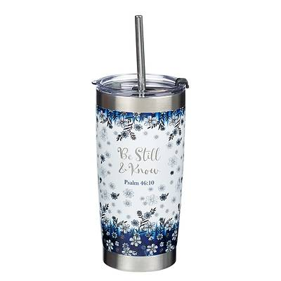 Picture of Travel Mug Stainless Steel Be Still Psalm 46