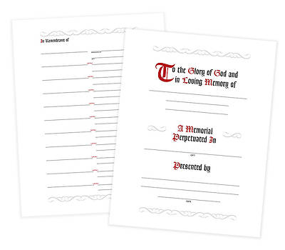 In Remembrance Register (7 Ring Binder Refill Pages)