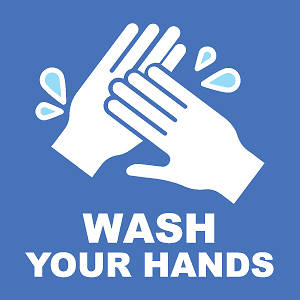 """Picture of Wash Your Hands 9""""x9"""" Wall Decal Sign - 2 Pack"""