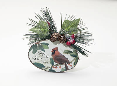 Joy to the World Cardinal Ornament