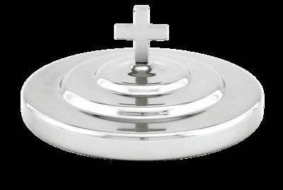 CHROME BREAD PLATE COVER WITH KNOB