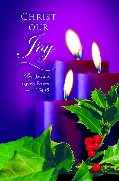 Advent Purple Sunday 3 Bulletin 2012, Regular Size (Package of 50)