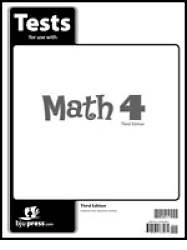Math Grade 4 Test Pack 3rd Edition