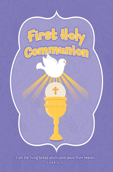 Picture of First Holy Communion Regular Size Bulletin