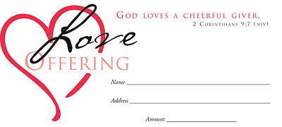 Love Offering Heart Offering Envelope (Package of 100)