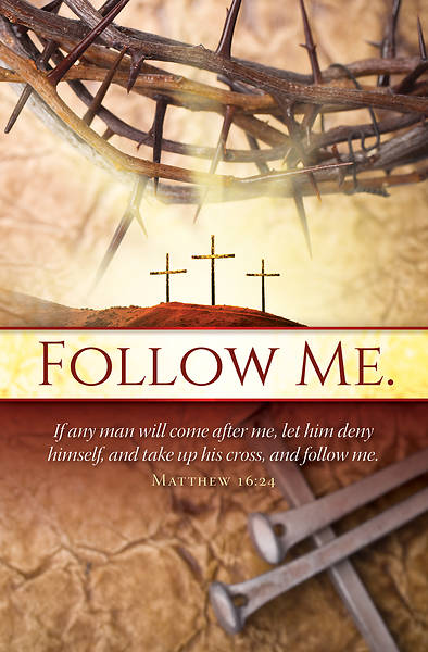 Follow Me Lent Bulletin - Pack of 100
