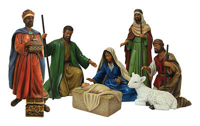 African American Expressions 7-Piece Nativity Set