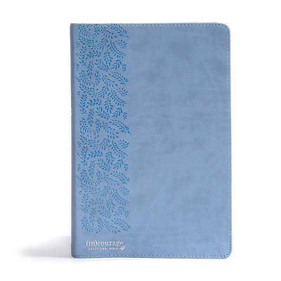 Picture of CSB (In)Courage Devotional Bible, Blue Leathertouch Indexed