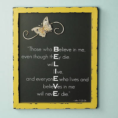 Believe Hanging Plaque