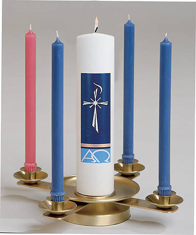Picture of Koleys K323S Satin Brass Tabletop Advent Wreath