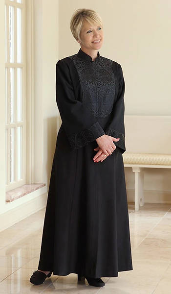 Picture of WomenSpirit Esther with Brocade Custom Black Robe