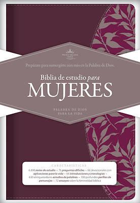 Picture of Rvr 1960 Biblia de Estudio Para Mujeres, Tinto Simil Piel