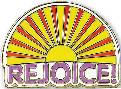 Picture of Rejoice Sunrise Hard Enamel Pin