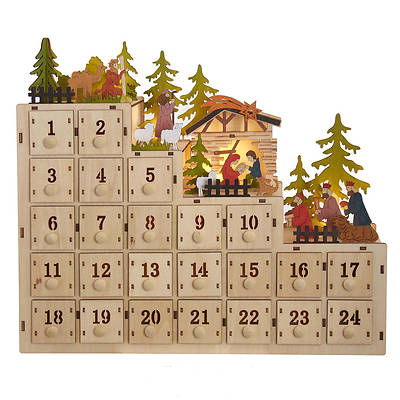 Picture of LED Battery Advent Calendar With Nativity