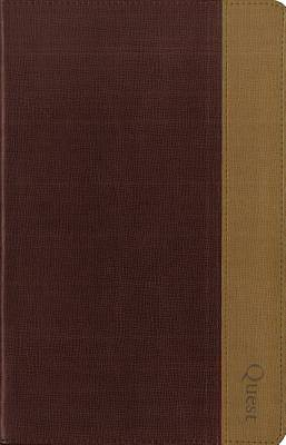 Picture of NIV, Quest Study Bible, Personal Size, Imitation Leather, Burgundy/Tan, Indexed