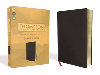 Picture of Kjv, Thompson Chain-Reference Bible, Large Print, Bonded Leather, Black, Red Letter