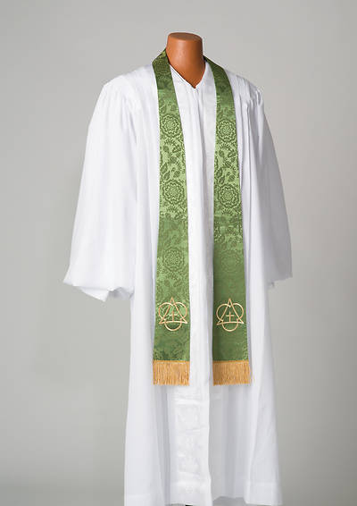 Green With Holy Trinity Symbol Stole